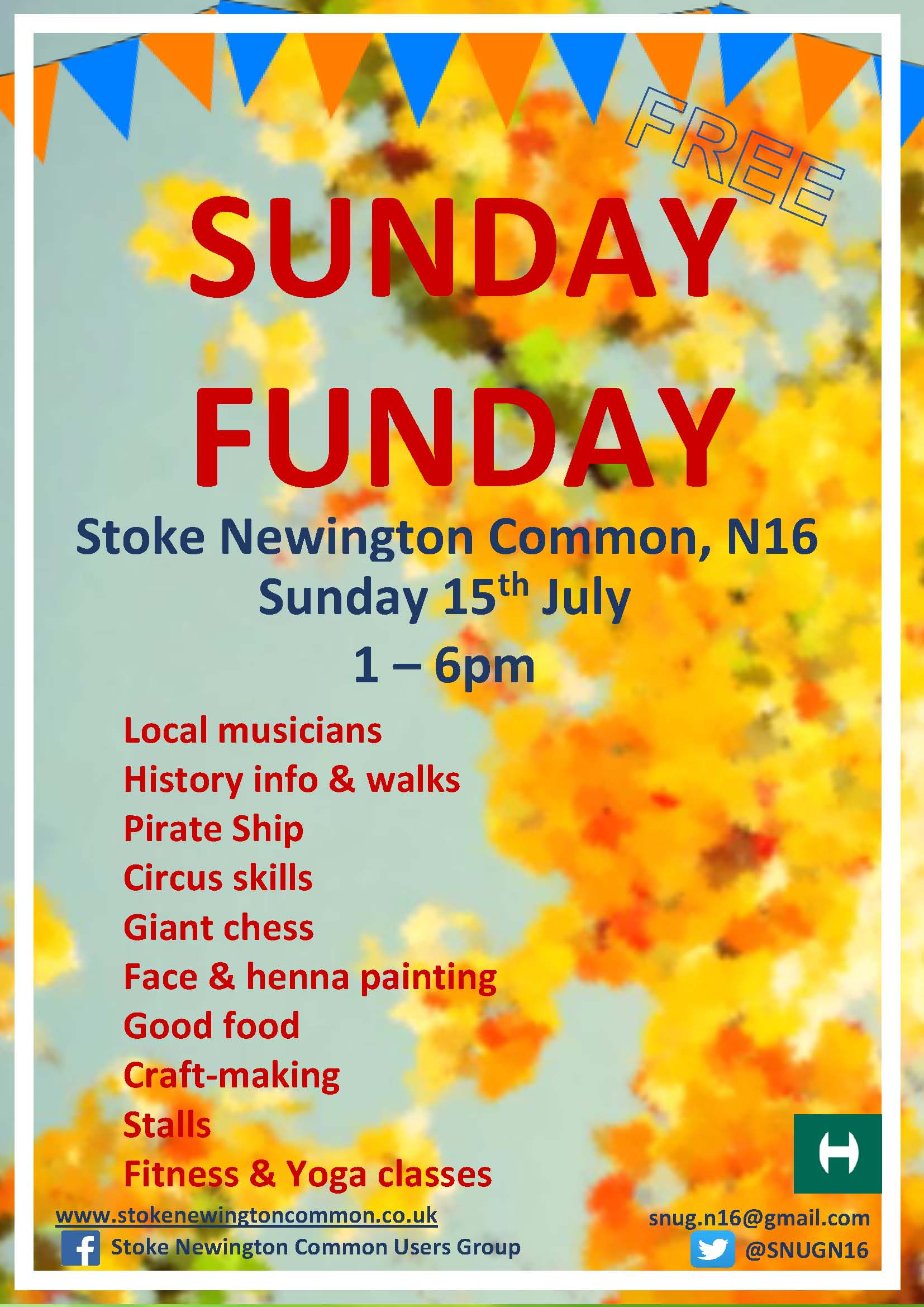 Snug funday poster July 2018