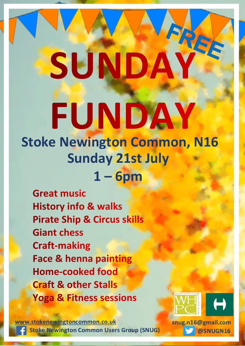 Snug funday poster July 2019